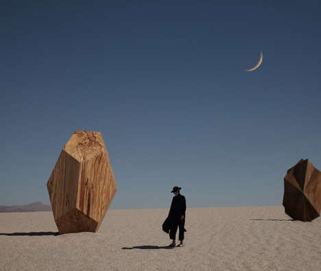 Elegant Desert Fashion Photography - Le Fawnhawk's Branding is Mysterious, Delicate and Ethereal