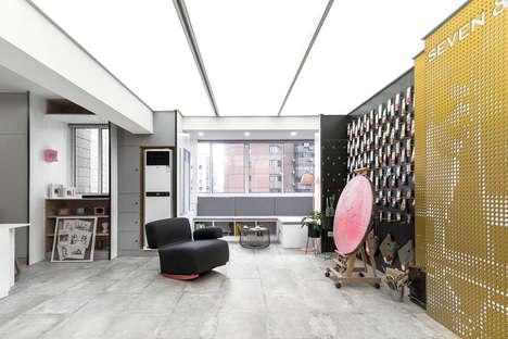 Compact Artful Apartment Interiors