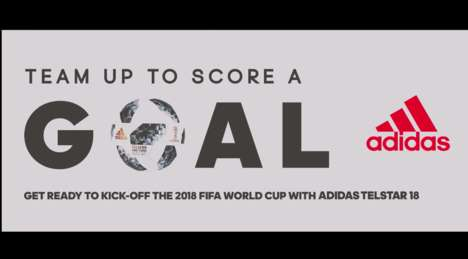 Team-Building Soccer Billboards - adidas' Interactive Billboard Offers a Reward for Cooperation