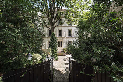 Luxe Tiny Parisian Hotels - The Hotel Particulier Montmartre is Hidden Within a Gorgeous Garden