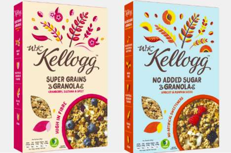 Heritage-Inspired Premium Cereal Lines - Kellogg's New Health-Focused Product Has a Modern Look