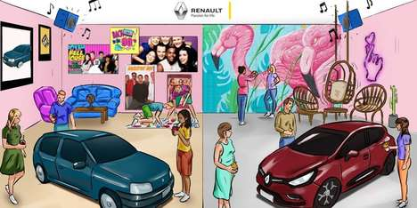 "Nostalgic Automotive Pop-Ups - Renault is Introducing Its Clio Model as ""the Original Millennial"""