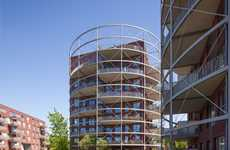 Gasholder-Inspired Cylindrical Buildings