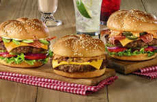 Elevated Chain Burger Menus - Denny's Burgertown U.S.A Menu Introduces Three New Options