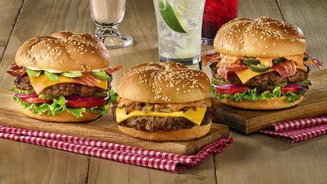 Elevated Chain Burger Menus