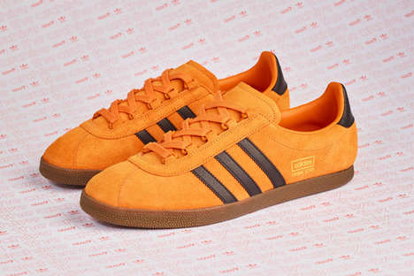 Sleek Pumpkin-Hued Sneakers
