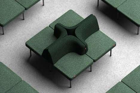 Interchangeable Grid-Like Seating