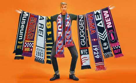Football-Inspired Museum Scarves - Made in Catteland's Museum League Project Elevates Gallery Merch