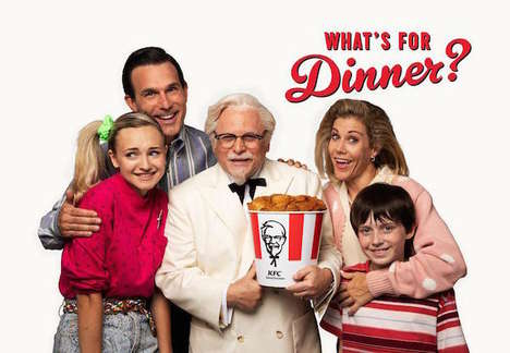 Sitcom-Style QSR Ads - KFC's 'What's for Dinner' Stars Jason Alexander as the Colonel