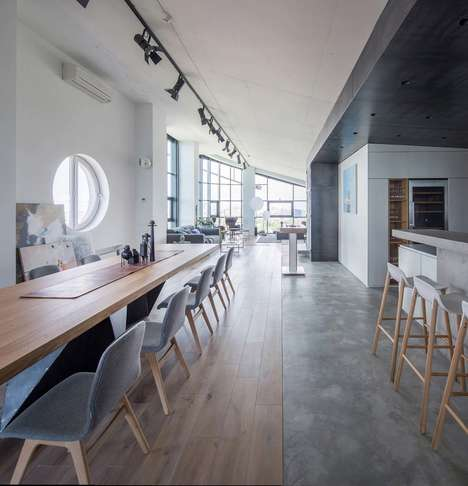 Modern High-Ceiling Apartments - 2B.group Renovates This Space to Extract Its Design Potential