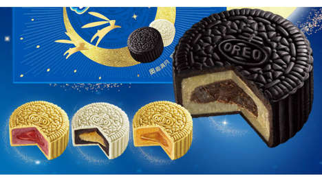 Reimagined Mooncake Cookies - Oreo Modernizes the Traditional Mooncake for the Mid-Autumn Festival