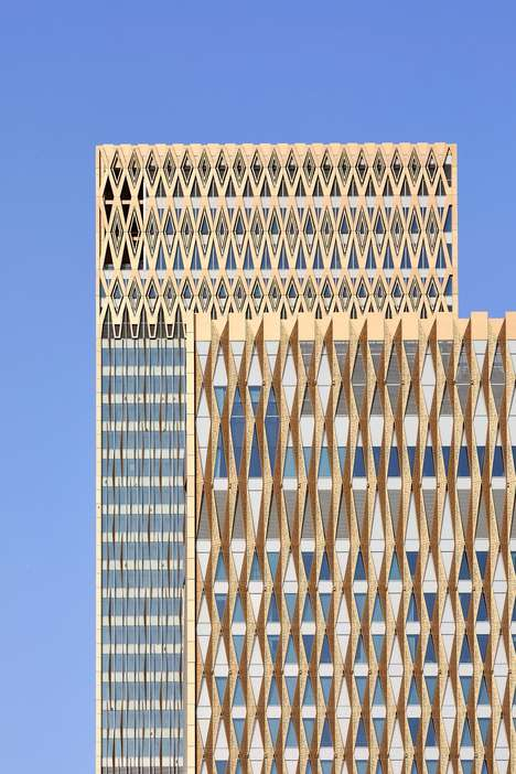 Visually Engaging Tower Facades - Gensler Embraces Traditional Arabic Architecture with Its Design