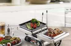 Space-Saving Indoor Grills - The Gourmia GDG1900 Folding Dual Indoor Grill is Compact and Powerful