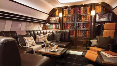 Gentleman Club-Inspired Private Jets - Winch Design's Elegant Leather Interior Elevates Traveling