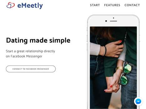 Social Chat Dating Apps - 'eMeetly' Lets Users Connect with Potential Mates in Facebook Messenger