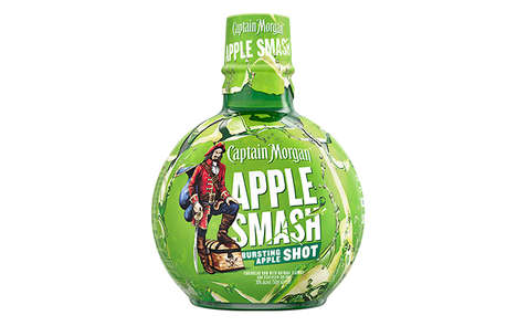 Candy Apple Rum Shots
