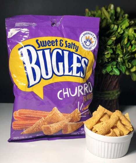 Cinnamon Sugar Churro Chips - Churro-Flavored Bugles are Exclusively Available from 7-Eleven