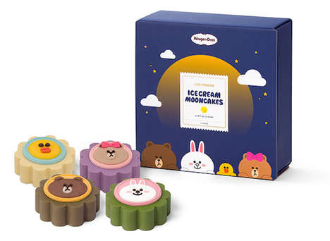 Cute Ice Cream Mooncakes