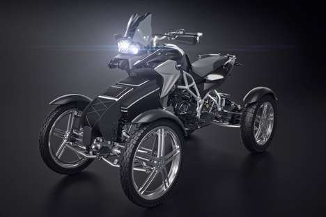 Leaning Suspension Quad Bikes - The 900 GS AWD Hybrid Adventure Quad Bike Can Tackle Any Terrain