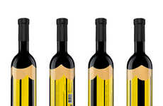 Pencil-Themed Wine Bottles