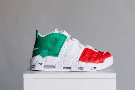 Italian Flag Basketball Sneakers