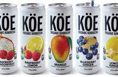 Probiotic-Packed Canned Kombuchas - The KÖE Organic Kombucha Comes in Five Sweet Flavors