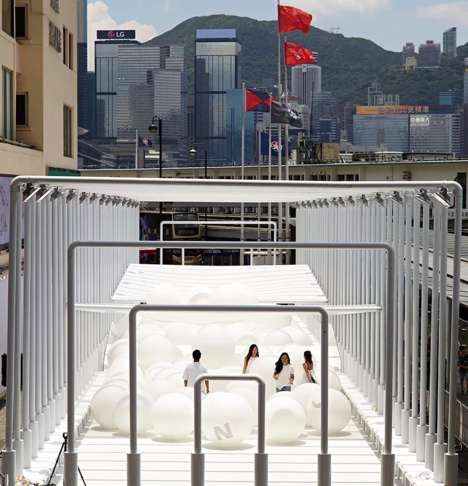 Bouncy Art Playgrounds - Snarkitecture's Bounce is an Interactive Art Installation in Hong Kong
