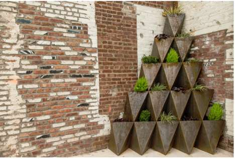 Stackable Prism Planters - The Principals' Design Boasts Modularity and an Industrial Aesthetic