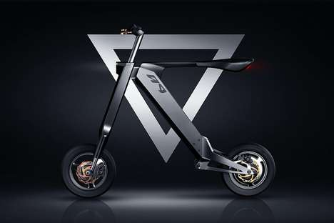 Minimalist Last-Mile Commuter Bikes - The 'AK-1' Folding Electric Bike Provides 22 Miles of Range