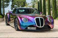 Retro Iridescent Coupe Vehicles
