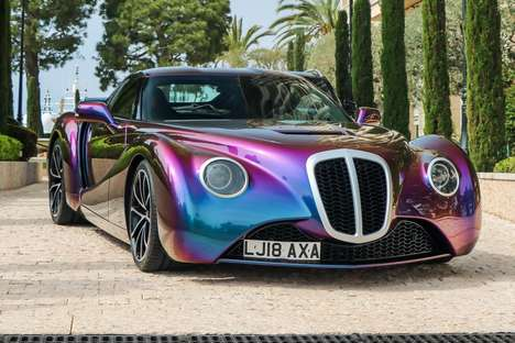 Retro Iridescent Coupe Vehicles - The Zeclat is a Perfect Blending of Old and New Aesthetics