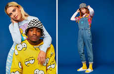 Nostalgic Cartoon Street Apparel