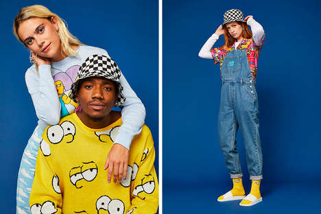 Nostalgic Cartoon Street Apparel - ASOS Design and The Simpsons Joined for a Collaborative Range