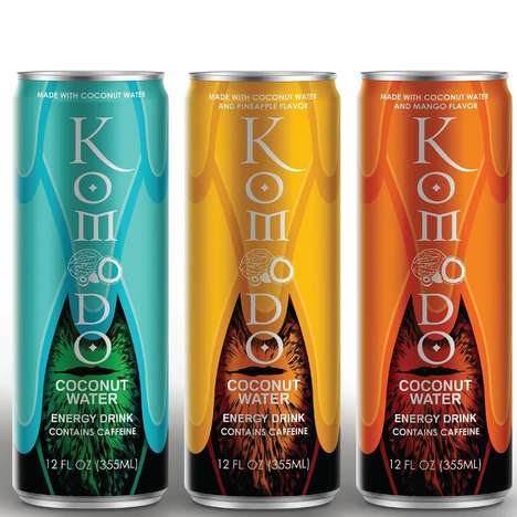 Caffeinated Coconut Water Beverages