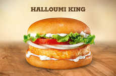 Meatless Halloumi Burgers - Burger King Sweden Launched Two New Burgers Without Beef Patties