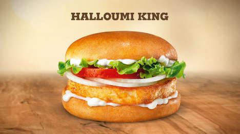 Meatless Halloumi Burgers