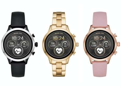 Stylish Designer Smartwatches - The Michael Kors Runway Wear OS Smartwatch is Chic and Durable