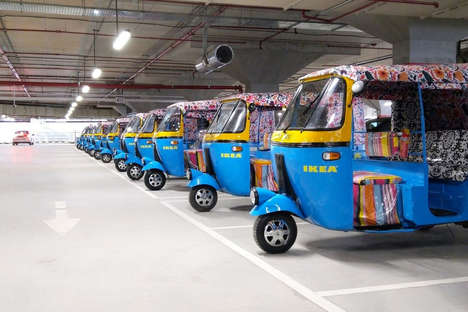 Electric Rickshaw Delivery Services - IKEA India Delivers its Goods on an Electric Rickshaw