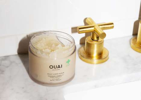 Multipurpose CBD Scrubs - OUAI's Scalp & Body Scrub Calms Inflammation and Soothes Irritation