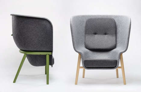 Privacy-Focused Recycled Chairs