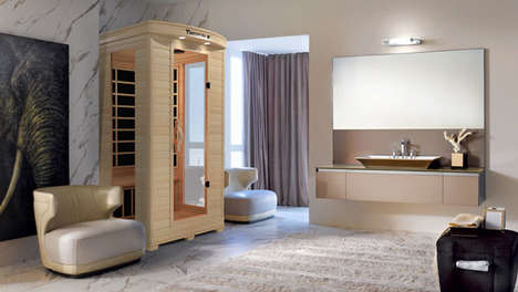 Slender Dual-Temperature Saunas - The Medical 4 Full Spectrum Home Sauna Offers Hot and Cold Therapy
