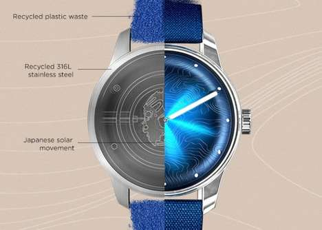 Recycled Material Timepieces - AWAKE WATCHES Creates Accessories Made from Various Waste Products