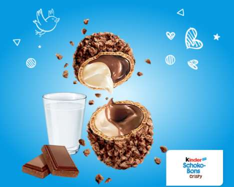 Crunchy Bite-Size Chocolate Snacks - This Mouth-Watering Kinder Product Mixes Two Types of Textures