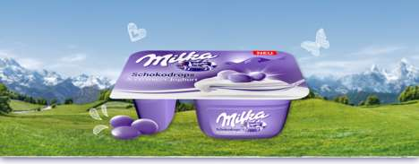 Chocolate-Fusion Creamy Yogurts - Milka Launches a Tasty Back-to-School Snack in Germany