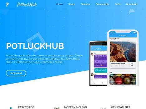 Social Event-Planning Apps - 'PotluckHub' Helps Users Host Parties and Celebrate with Friends