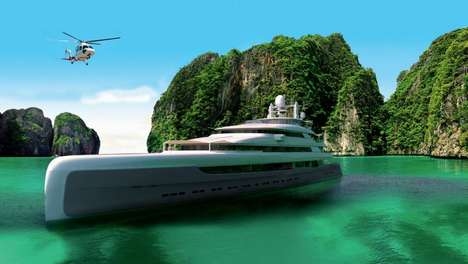 Massive Luxury Boats - The 'Illusion Plus' Mega Yacht Features Plenty of Rooms and Amenities