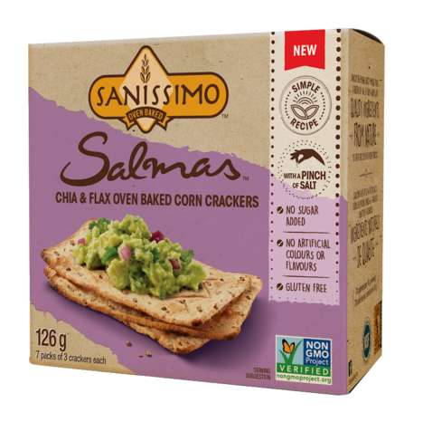 Oven-Baked Corn Crackers - Sanissimo's Salmas Crackers Are Health Conscious and Guilt-Free