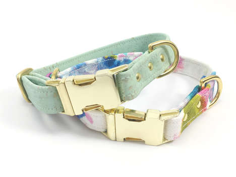 Cork Leather Pet Collars