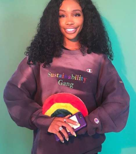Collaborative Sustainable Celebrity Streetwear - SZA's Sustainability Gang Pack Fights Fashion Waste