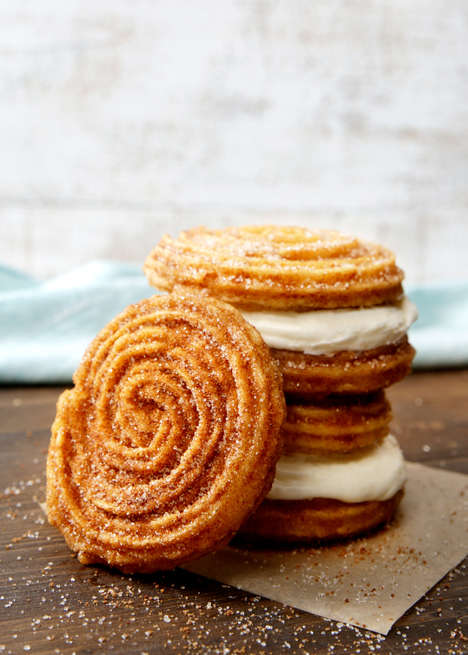 Frosted Churro Sandwiches - Cinnabon Now Serves a Its Own Twist on the Classic Churro Treat